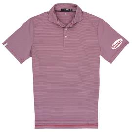 Cotton, Polo- RLX Red w/White Stripes