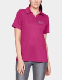 Ladies Under Armour Collared Shirt - Pink