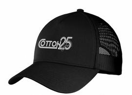 Cotton 25th  Anniversary hat, black