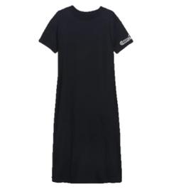Cotton 25th  Anniversary  T-Shirt Dress - Black