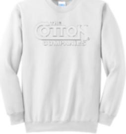 Cotton 25th  Anniversary  Sweatshirt, White