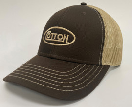 Cotton Brown and Tan Hat