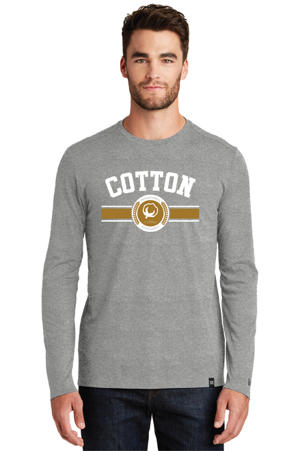 Cotton, Collegiate Long Sleeve, Grey