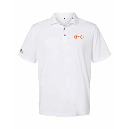 Game Day White and Burnt Orange Polo Shirt