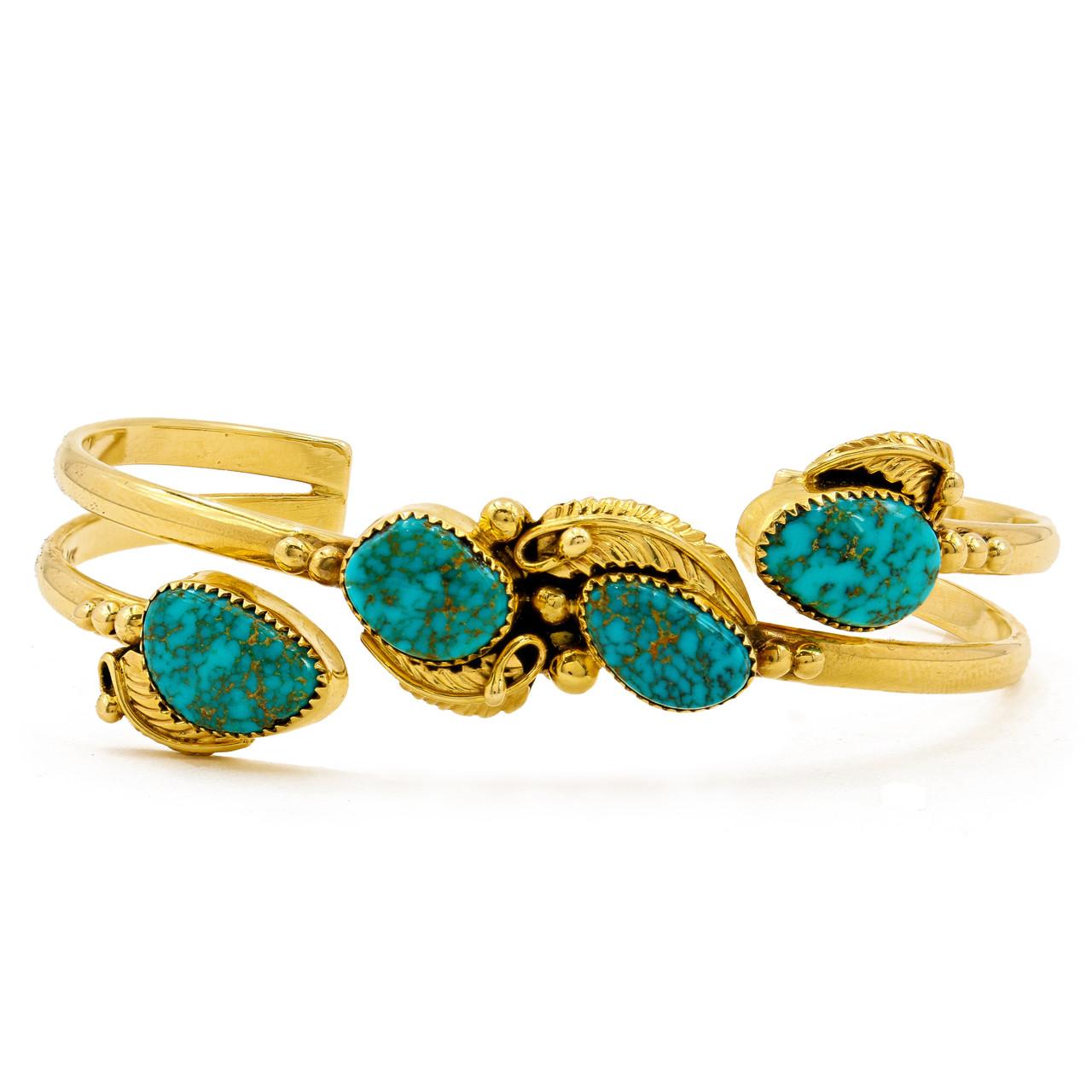 Turquoise Bracelet Gold Gemstone Turquoise Bangle Bangle Bracelet Adjustable Bangle Birthstone Bracelet Gold Jewelry Gold Cuff Bangle
