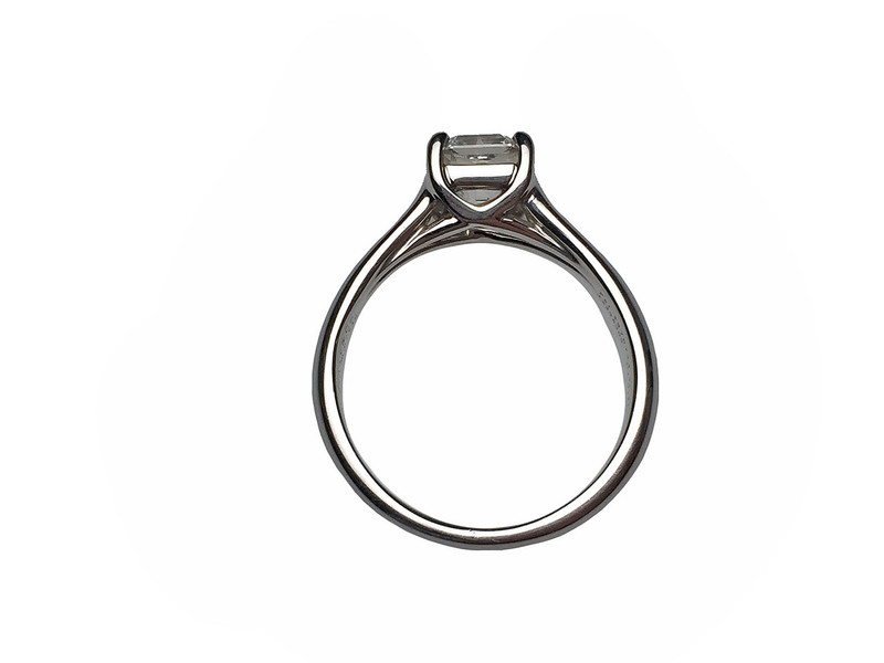 d16f22ddf Tiffany and Co. Platinum Lucida Cut Diamond Solitare Ring - Lippa's ...