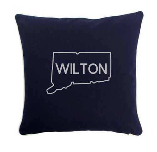 Pillow 12x12 State and Town