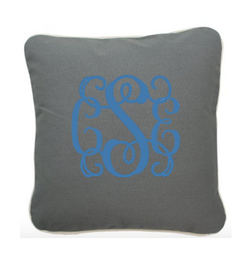 Pillow 12 x 12 Monogram