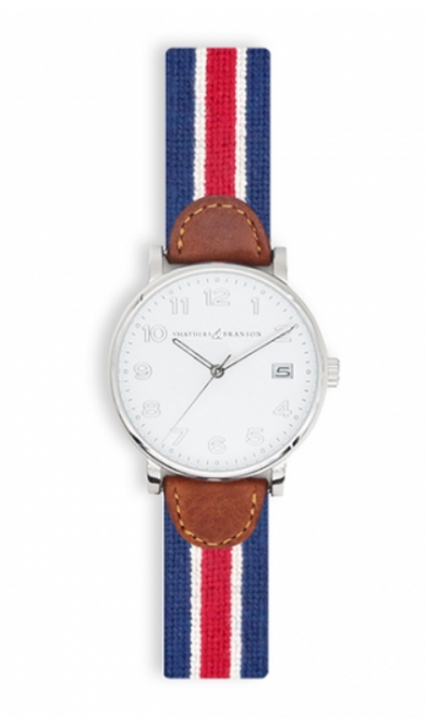 Watch - Smathers and Branson Red Multi Stripe