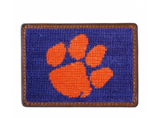 Wallet Needlepoint Credit Card - Clemson