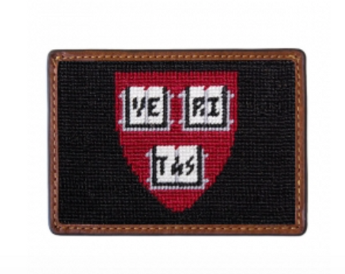 Wallet Needlepoint Credit Card - Harvard