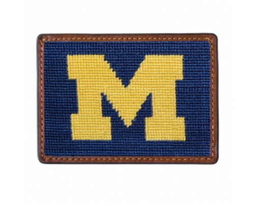 Wallet Needlepoint Credit Card - University of Michigan