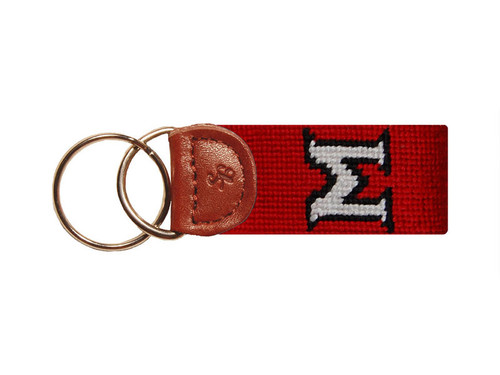 Miami University Ohio Needlepoint Key Fob