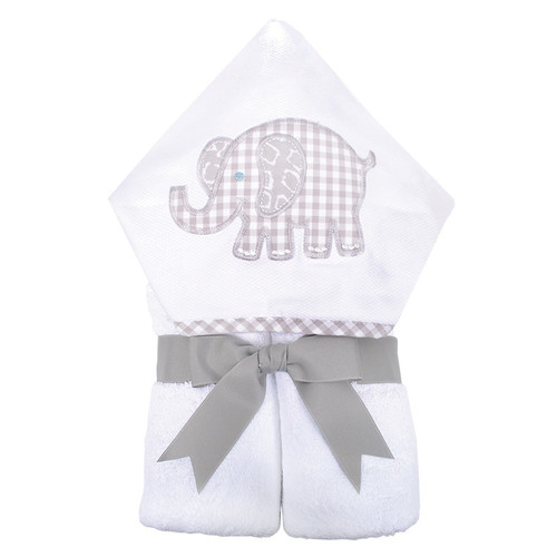 Everykid Hooded Towel - Gray Elephant