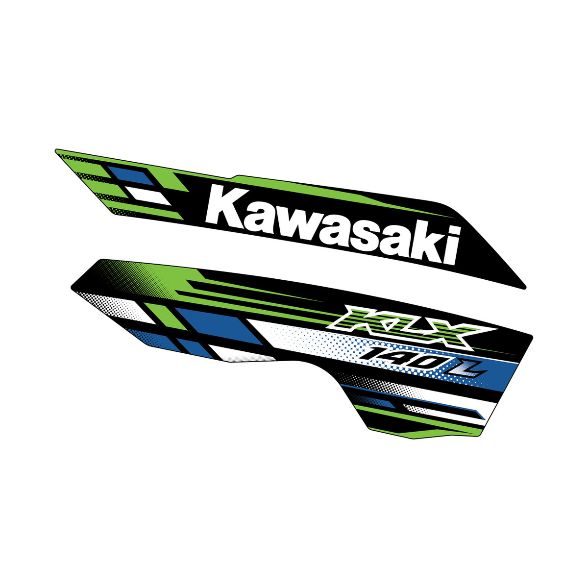 2013 Kawasaki Klx140l Replica Oem Shrouds Elite Design Co