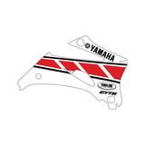2007 Yamaha WR250/450 White/Red Replica OEM Shroud Graphics