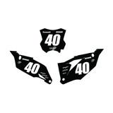 Kawasaki Base Number Plate Graphics