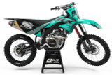 Elite Design Co Kawasaki Riot Teal Graphics Kit