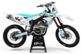 Kawasaki Rapture White/Teal Graphics Kit