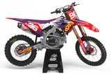 Honda Vault Purple Graphics Kit