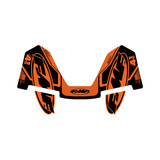 FMF Factory 4.1 Exhaust Graphics Orange & Black