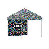 Custom Printed Pit Tent Full Wall