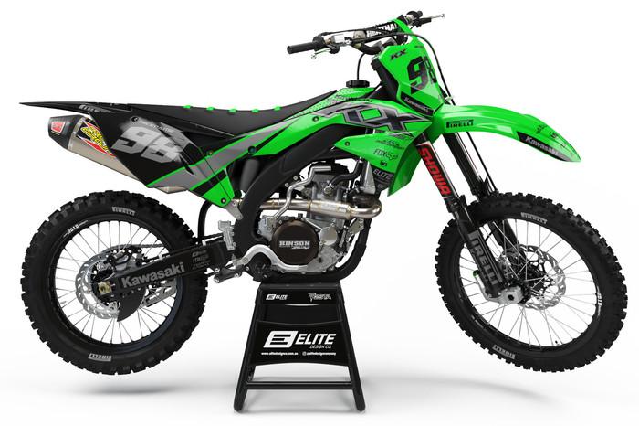 Elite Design Co Kawasaki Riot Green Graphics Kit