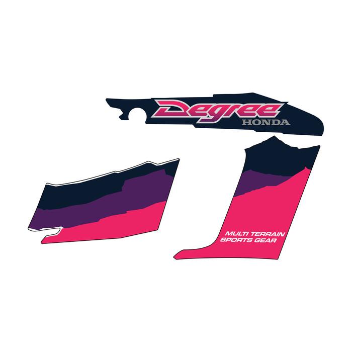 1998 Honda Degree XL250 Pink OEM Replica Shrouds