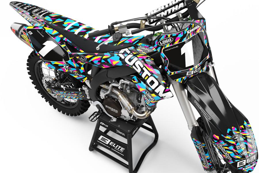 Custom Kawasaki Graphics Kit