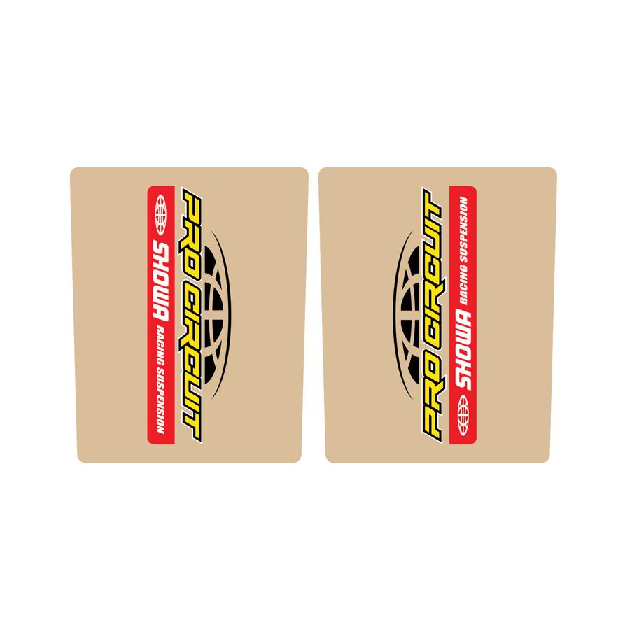 Pro Circuit Showa Fork Tube Sticker
