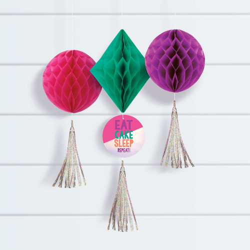 Young and Fab Honeycomb Decorations
