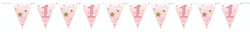 One Little Star Pink Bunting 12ft