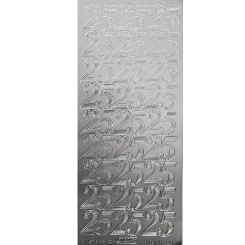 Peel Off  Number 25 Siver Silver