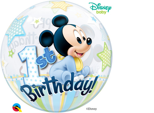 H300 22in Double Bubble Mickey 1st Birthday