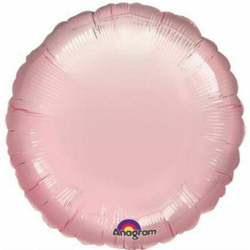 H100 18in Circle Foil Balloon Champagne Pink