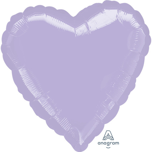H100 18in Heart Foil Balloon Lilac