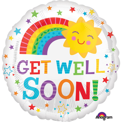 H100 17in Foil Balloon Get Well Soon