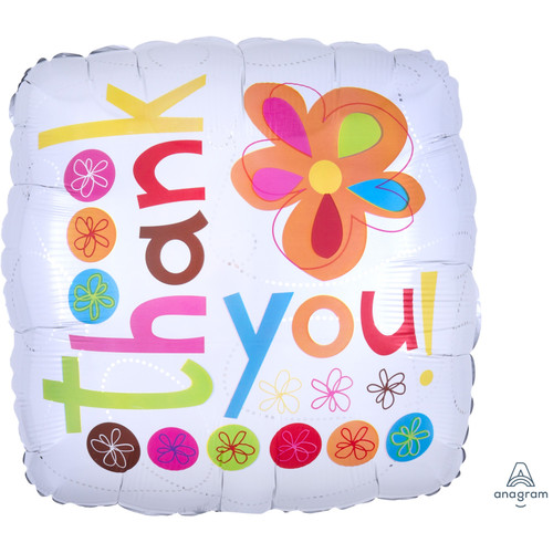 H100 17in Foil Balloon Thank You Bouquet