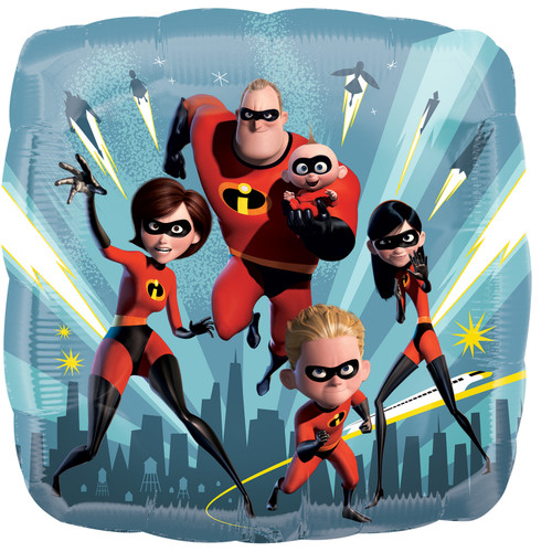 H100 17in Foil Balloon Incredibles 2