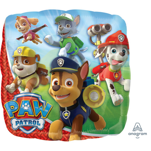 H100 18in Foil Balloon Paw Patrol Square