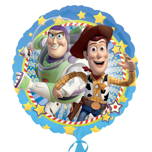 H100 18in Foil Toy Story Woody & Buzz Lightyear