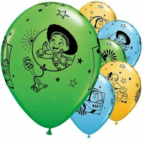 12in Latex Balloons Toy Story 4 Pk6
