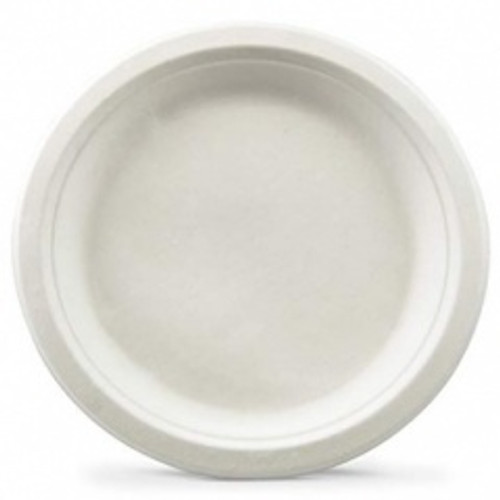 Bagasse Plate Round Pk100 7in