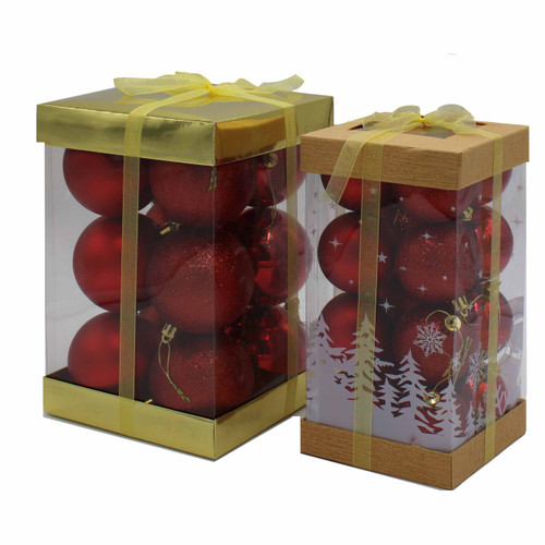 12x80mm Baubles Red