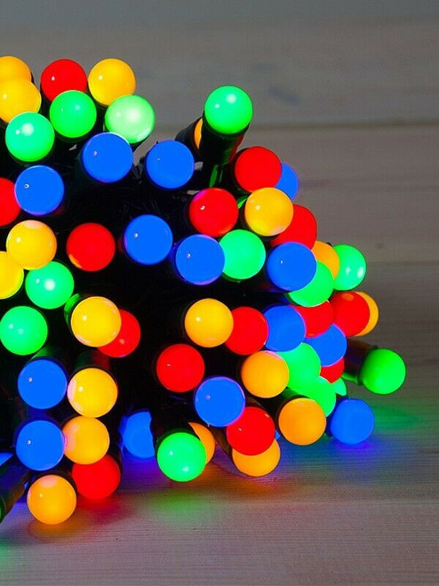 10 LED Mini Berry Lights Battery Operated Flashing Colours inc Batteries
