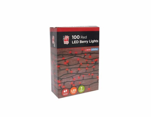 100 LED Berry Lights Red