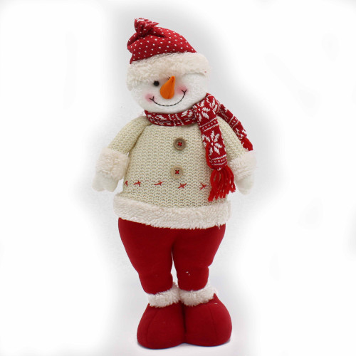 Red and White Snowman Standing