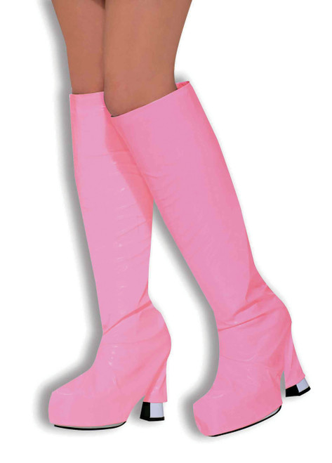 60s GoGo Boot Top Covers Pink