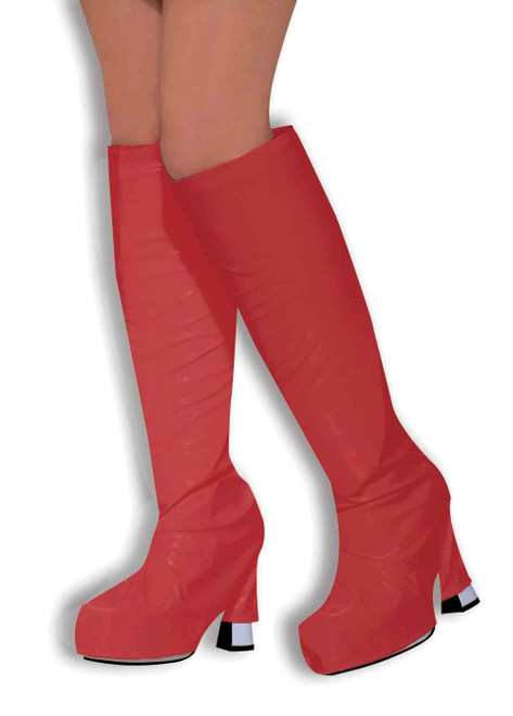 60s GoGo Boot Top Covers Red