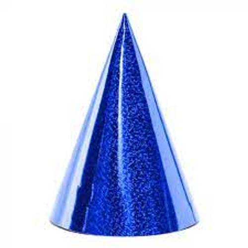 Holographic Party Hat  Blue
